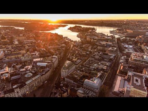LEVER DU SOLEIL À STOCKHOLM –  DRONE 4K