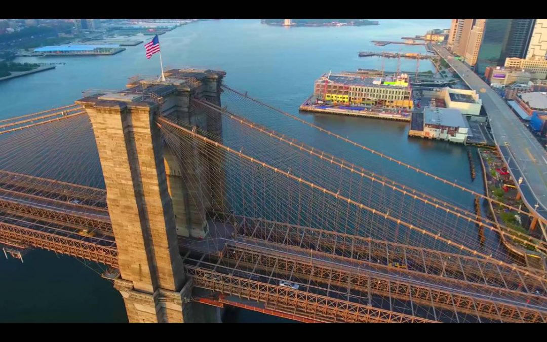 NY!! Drone Flight From Brooklyn to Manhattan 4K