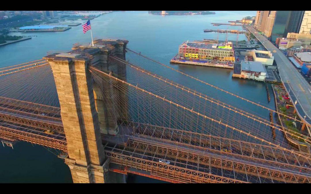 NY!! Drone Flight From Brooklyn to Manhattan 4K