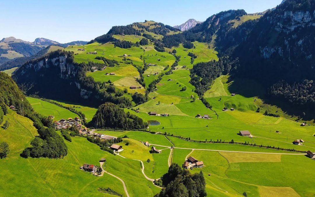 DRONE VIEW OF SWITZERLAND